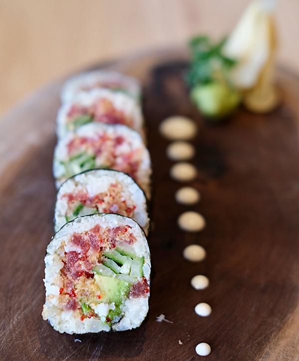 Sushi keto faible glucides
