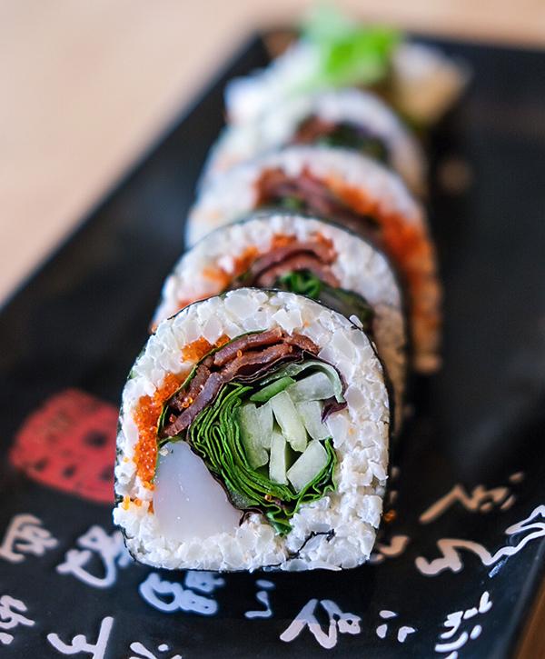 Sushi keto riz de chou fleur